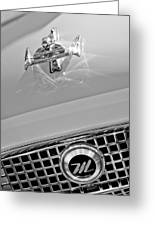 1960 Nash Metropolitan Hood Ornament Greeting Card