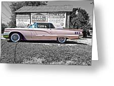 1960 Thunderbird Bw Greeting Card