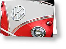 1960 Volkswagen Vw 23 Window Microbus Emblem Greeting Card by Jill Reger