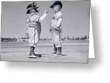 1960s Boy Little Leaguer Pitcher Greeting Card