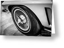 1960's Chevrolet Corvette C2 Spinner Wheel Greeting Card by Paul Velgos