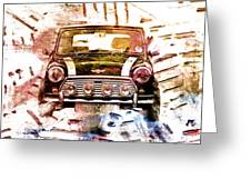 1960s Mini Cooper Greeting Card by David Ridley