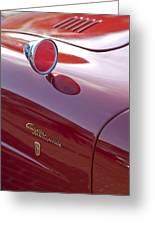 1961 Alfa Romeo Giulietta Sprint Speciale Emblem Greeting Card
