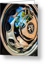 1961 Alfa Romeo Giulietta Sprint Speciale Wheel Emblem -0051c Greeting Card
