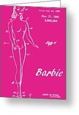 1961 Barbie Doll Patent Art 1 Greeting Card