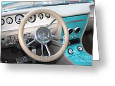 1961 Buick Two Door Sedan Dashboard Greeting Card