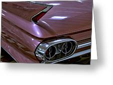 1961 Cadillac Coupe 62 Taillight Greeting Card