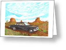 1961 Chevrolet Biscayne 409 In Monument Valley Greeting Card