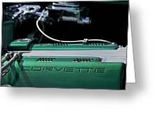1961 Chevrolet Corvette Engine Greeting Card