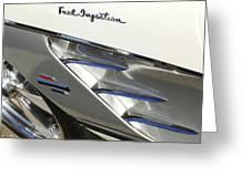 1961 Chevrolet Corvette Side Emblem 3 Greeting Card