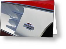 1961 Chevrolet Corvette Side Emblem Greeting Card