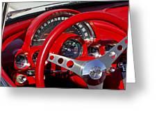 1961 Chevrolet Corvette Steering Wheel 2 Greeting Card