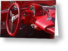 1961 Chevrolet Corvette Steering Wheel Greeting Card