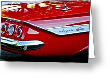 1961 Chevrolet Impala Taillight Emblem Greeting Card