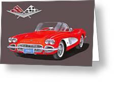 1961 Corvette Convertible Greeting Card
