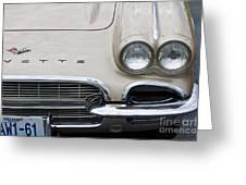 1961 Corvette Greeting Card