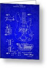 1961 Fender Guitar Greeting Card
