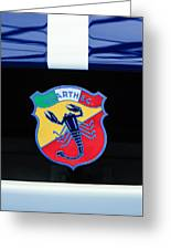 1961 Fiat-abarth 1000 Bialbero Gt Competition Coupe Emblem Greeting Card