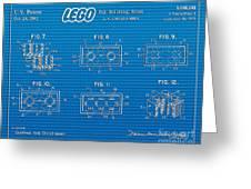 1961 Lego Building Blocks Patent Art 1 Greeting Card