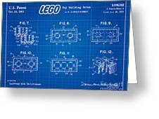 1961 Lego Building Blocks Patent Art 4 Greeting Card