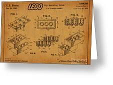 1961 Lego Building Blocks Patent Art 5 Greeting Card