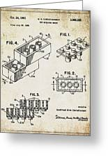 1961 Lego Patent Greeting Card