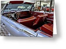 1961 Lincoln Continental Interior Greeting Card