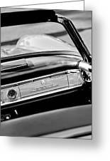 1961 Mercedes-benz 300 Sl Roadster Dashboard Emblem Greeting Card