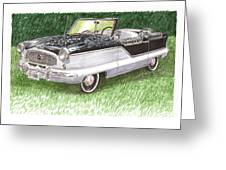 1961 Nash Metro Convertible Greeting Card