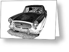1961 Nash Metro In Black White Greeting Card