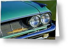1961 Pontiac Bonneville Grille Emblem Greeting Card