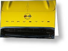 1962 Chevrolet Corvette Convertible Hood Emblem Greeting Card