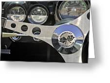 1962 Chevrolet Corvette Convertible Steering Wheel Greeting Card