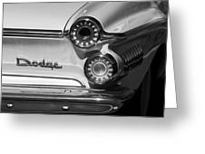 1962 Dodge Dart Taillight Emblem Greeting Card