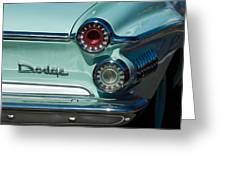 1962 Dodge Dart Taillight Greeting Card