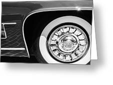 1962 Ghia L6.5 Coupe Wheel Emblem Greeting Card