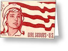 1962 Girl Scouts Of America Postage Stamp Greeting Card