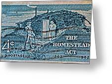 1962 Homestead Act Stamp Greeting Card