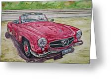 1962 Mercedes Benz 190sl Greeting Card