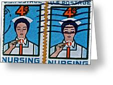 1962 Nursing Stamp Collage Greeting Card