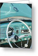 1962 Volkswagen Vw Beetle Cabriolet Steering Wheel Greeting Card