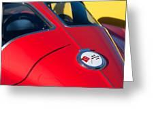 1963 Chevrolet Corvette Convertible Emblem Greeting Card