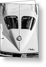 1963 Chevrolet Corvette Split Window -386bw Greeting Card