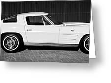 1963 Chevrolet Corvette Split Window -575bw Greeting Card