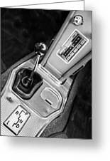 1963 Chevrolet Corvette Split Window Dash -155bw Greeting Card
