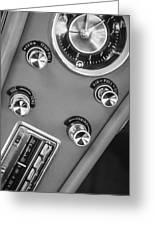 1963 Chevrolet Corvette Split Window Dash -334bw Greeting Card