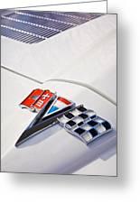 1963 Chevrolet Corvette Split Window Emblem -138c Greeting Card