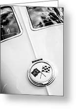 1963 Chevrolet Corvette Split Window Emblem -445bw Greeting Card