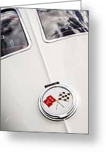1963 Chevrolet Corvette Split Window Emblem -445c Greeting Card