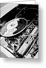 1963 Chevrolet Corvette Split Window Engine -147bw Greeting Card